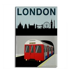 London Poster Image Rectangle Magnet