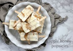 These apple honey popsicles are a delightful take on classic holiday flavors! Apple Pie Spice, Popsicle Molds, Honey Cake, Honey Recipes, Whoopie Pies, Granny Smith, Popsicles, Feta, Food Processor Recipes