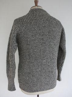 British Fame Knit Fisherman Sweater Grey Marl from Wayside Flower.