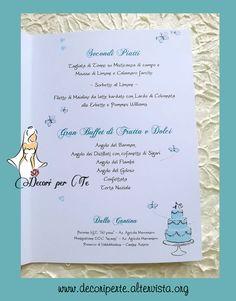 MENU' MATRIMONIO TIFFANY Tiffany Wedding Menu'