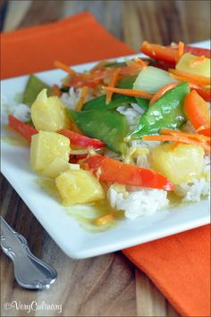 Coconut Curry Veggie Stir Fry on www.veryculinary.com