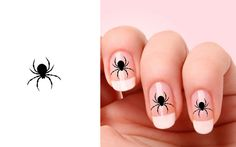 Set of 20 Halloween Spider nail art decals