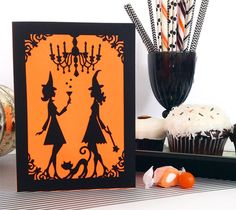 Bewitched Card and Invite by Rob & Bob. Make It Now in Cricut Design Space