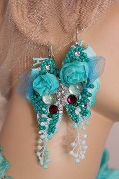 Unique Art to wear Turquoise baroque inspired by levintovich