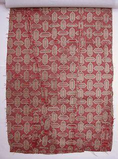 Textile with Cartouche Design | 18th century | Turkey | Silk, metal wrapped thread; lampas (kemha)