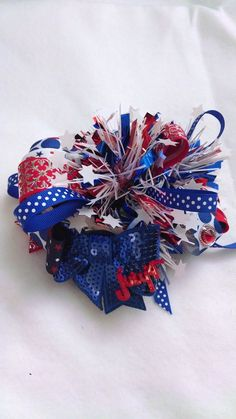 Hey, I found this really awesome Etsy listing at https://www.etsy.com/listing/175194970/burst-bow-for-the-fourth-of-july