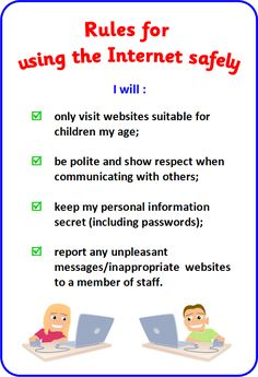 Rules for Using Internet #internet #kids #childrenrules