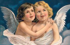 A Merry Christmas, vintage Christmas angels Vintage Christmas Images, Old Christmas, Christmas Angels, Vintage Images, Victorian Christmas, Victorian Valentines, Christmas Paper, Vintage Pictures, Holiday Postcards