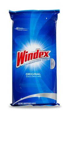 Windex® Original Glass Wipes : SC Johnson
