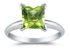 peridot-rings..... Love this, simple and stunning