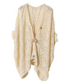 Hollow Out Ripples Batwing Sleeves Cardigan