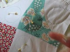 Hand Quilting 6 -- Skipping Over to a New Section - YouTube
