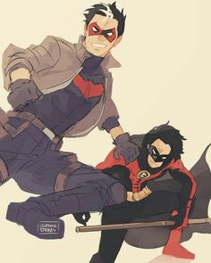 DC, red hood, and red robin image Batman Robin, Batman Comic Art, I Am Batman, Batwoman, Nightwing, Batman Arkham City, Batman Arkham Origins, Gotham City, Dc Comics