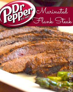Dr. Pepper Marinated Flake Steak; a fantastic slightly sweet marinade!