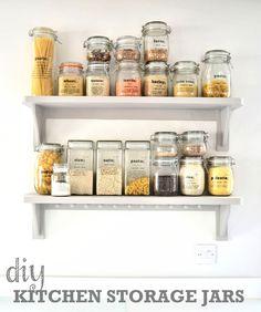 DIY Kitchen Storage Ideas: Getting organised in the kitchen http://www.thevegspace.co.uk/diy-kitchen-storage-ideas-getting-organised-in-the-kitchen/