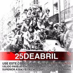 #25deabril #liberdade  Temos a liberdade de oferecer aos nossos clientes o envio nas encomendas superiores a 50 nos dias 25 26 e 27.  25 de Abril para sempre. #25deabrilsempre #portugal #enviogratis #pedradatattoosupplies #moodytattooproducts #dhl