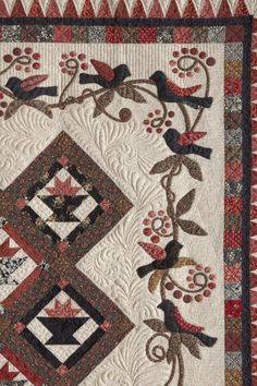 Detail of Four & Twenty Blackbirds, design by Geannine Ott