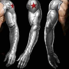 Captain America Suit, Marvel Concept Art, Winter Soldier Cosplay, Arm Drawing, Futuristic Armour, Blake Belladonna, Robot Arm, Marvel Films, Marvel Art