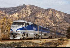 AMTK 456 Amtrak EMD F59PHI at Faria Beach, California by Alex Gillman
