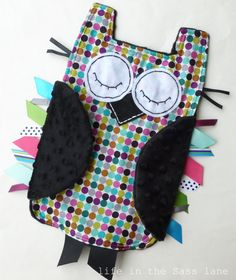 Alexander Henry Mod Dot OWL Ribbon Tag Baby by LifeInTheSassLane, $24.00...this is so cute