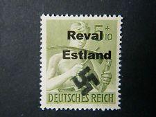 Local Deutsches Reich WW II Occupation overprint Reval Estland unused