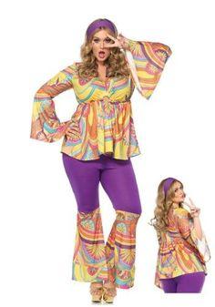 Womenu0027s Plus Size Hippie Chick Costume | Disfraces | Pinterest | Hippie chick Costumes and Apple costume  sc 1 st  Pinterest & Womenu0027s Plus Size Hippie Chick Costume | Disfraces | Pinterest ...