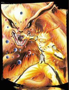 Naruto and Kurama 😍❤️ #Rasengan #Kyuubi #Jinchuriki ❤️