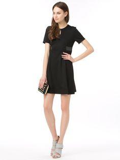 avie - enamel combination swing dress