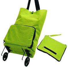 Envío gratis japonés remolcador inicio portátiles plegable del bolso de compras plegable cesta de la compra(China (Mainland))