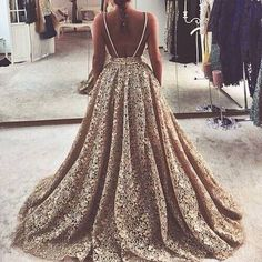 Plus Size Prom Dress, A-Line Spaghetti Straps Court Train Backless Lace Prom Dress Shop plus-sized prom dresses for curvy figures and plus-size party dresses. Ball gowns for prom in plus sizes and short plus-sized prom dresses Elegant Dresses, Pretty Dresses, Formal Dresses, Beautiful Gowns, Beautiful Images, Elie Saab, Dream Dress, Homecoming Dresses, Dress Prom