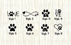 Love paw animal car decal dog love paw word decal paw infinity decal rescue decal adopt decal paw love decal gifts for animal lovers