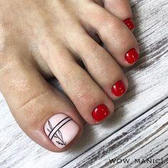 ⏩@mashapatrakova05 Pedicure Nail Designs, Pedicure Colors, Toe Nail Designs, Pedicure Nails, Cute Toe Nails, Toe Nail Art, Pretty Nails, My Nails, Cute Pedicures