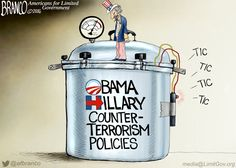 The Obama/Hillary counter-terrorism policies are a ticking time bomb for the United States. Included in this is their immigration and refugee vetting policies.