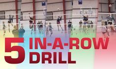 """Doane University's in a row"""" drill conditions players and provides them with multiple reps. Setters, attackers, diggers all work together to earn points with each successful play. To set up the … Volleyball Training, Volleyball Passing Drills, Volleyball Tryouts, Volleyball Skills, Volleyball Practice, Coaching Volleyball, Beach Volleyball, Softball, Volleyball Motivation"""