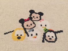 Tsum Tsum Pyramid Cross Stitch Pattern  Instant by thehomemadefig