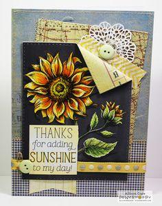 Power Poppy - The Blog: Inspire Me Monday: Digital Chalkboard Sunflowers