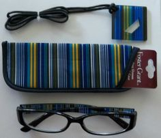 Foster Grant Black Reading Glasses  Decorative Stems Loop Compact Readers  +1.00 #FosterGrant