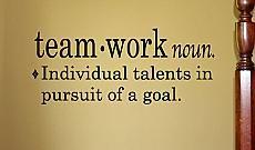 Teamwork Definition Wall Decals