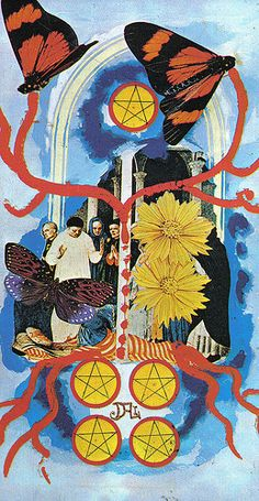 The 5 of Pentacles, from the Salvador Dali tarot deck