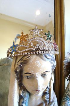 Antique Eastern Star Jeweled Crown