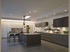 Roundhouse Urbo painted, veneered and metallic kitchen as seen on http://www.roundhousedesign.com