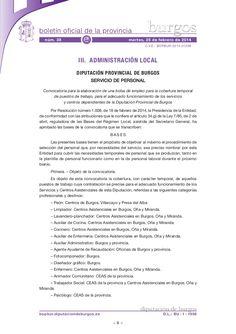 BopBur-2014-038-anuncio-201401298 Convocatoria bolsa empleo Diputacion de Burgos