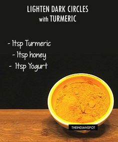 Hair Remedies Homemade Dark Circle Lightening Mask using Turmeric - THEINDIANSPOT - Turmeric or Haldi is a well know spice used in India and is also know for its lightening properties and hence, has been used in many skin care products. Homemade Skin Care, Homemade Beauty, Beauty Care, Beauty Skin, Dark Circle Remedies, Turmeric Face Mask, Hair Remedies, Tips Belleza, Belleza Natural