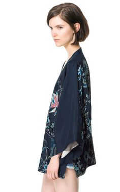BIRD PRINT KIMONO - Blazers - Woman - Sale | ZARA United States