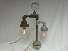 VINTAGE INDUSTRIAL  Explosion Proof TABLE Light Goodrich Crouse Hinds Steampunk