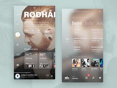 A look at the work from that involves UI/UX, Web Design and Interaction Design. App Ui Design, Mobile App Design, Mobile Ui, Android Design, Fluent Design, Card Ui, Ui Design Inspiration, Daily Inspiration, Music App