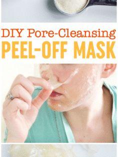 mask for pores drugstore DIY Pore-Cleansing Peel Off Mask Pore Mask, Blackhead Mask, Pore Cleansing Mask, Diy Mask, Diy Face Mask, Diy Pore Strips, Peel Off Maske, Peeling Maske, Face Mask For Blackheads
