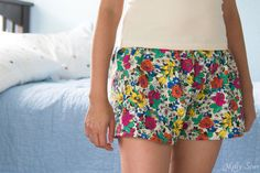 DIY: womens pajama shorts