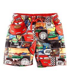 H&M Bright Red Cars Swim Shorts