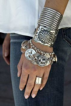 Layered silver. Love it with white and denim.